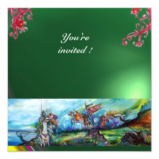 RIDERS IN THE STORM gem green 13 Cm X 13 Cm Square Invitation Card