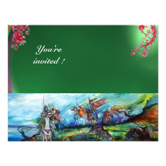 RIDERS IN THE STORM gem green Personalized Invitation