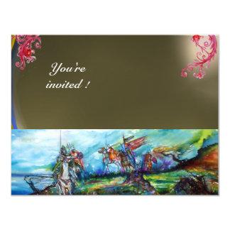 RIDERS IN THE STORM gem grey 11 Cm X 14 Cm Invitation Card