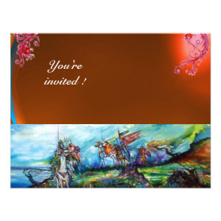 RIDERS IN THE STORM gem orage Personalized Invitation