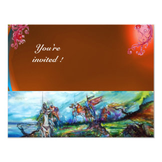 RIDERS IN THE STORM gem orage 11 Cm X 14 Cm Invitation Card