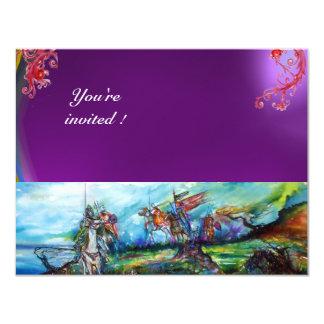 RIDERS IN THE STORM gem purple 11 Cm X 14 Cm Invitation Card