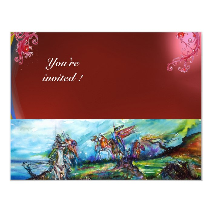 RIDERS IN THE STORM gem red 11 Cm X 14 Cm Invitation Card