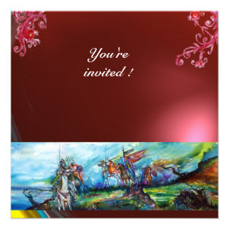 RIDERS IN THE STORM gem red Personalized Invite