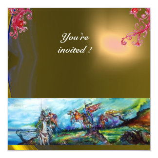 RIDERS IN THE STORM gem yellow 13 Cm X 13 Cm Square Invitation Card