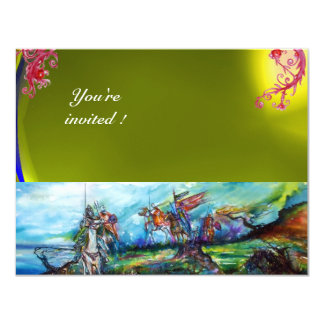 RIDERS IN THE STORM gem yellow 11 Cm X 14 Cm Invitation Card
