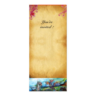 RIDERS IN THE STORM parchment 10 Cm X 24 Cm Invitation Card