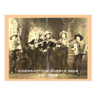 Riders of the Purple Sage. Postcard