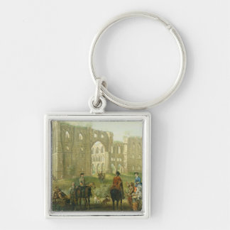 Riders Pausing by the Ruins of Rievaulx Abbey, c.1 Keychain
