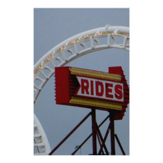 Rides and Roller Coaster Stationery