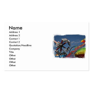 Rides at a county fair against a blue sky Double-Sided standard business cards (Pack of 100)