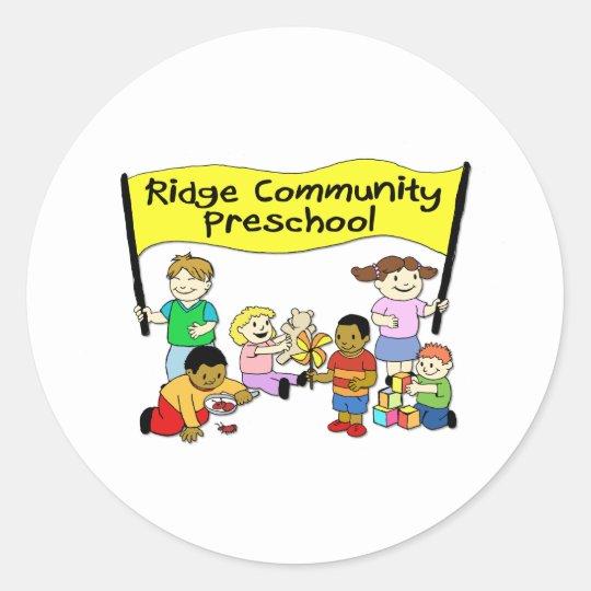 Ridge Community Preschool Round Sticker