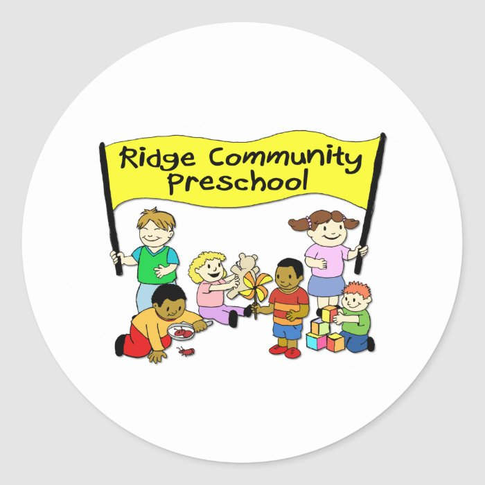 Ridge Community Preschool Round Sticker