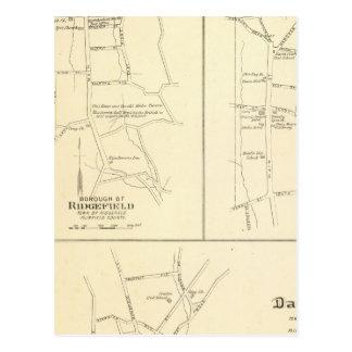 Ridgefield, Newton, Darien Postcard