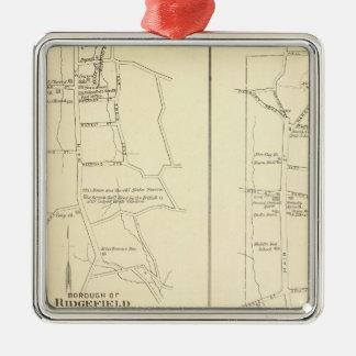 Ridgefield, Newton, Darien Silver-Colored Square Decoration