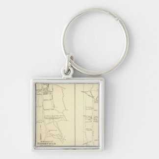 Ridgefield, Newton, Darien Silver-Colored Square Key Ring