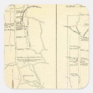Ridgefield, Newton, Darien Square Sticker