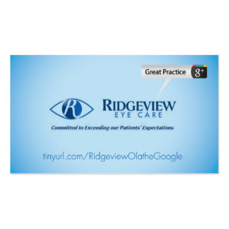 Ridgeview Eye Care Pack Of Standard Business Cards