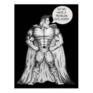Ridiculous Superhero Postcard
