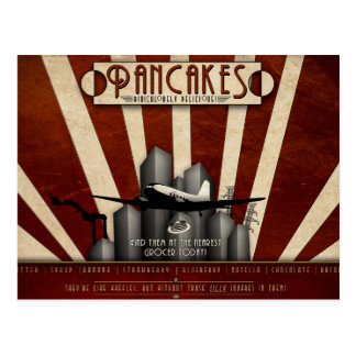 Ridiculously Delicious Pancakes Vintage Sign Postcard
