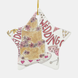 Ridiculously Delicious Wedding Cake Christmas Ornament