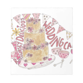 Ridiculously Delicious Wedding Cake Notepad