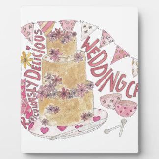 Ridiculously Delicious Wedding Cake Plaque