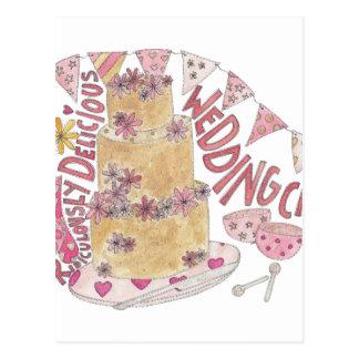 Ridiculously Delicious Wedding Cake Postcard