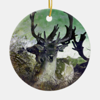 Ridiculously Photogenic Deer Round Ceramic Decoration
