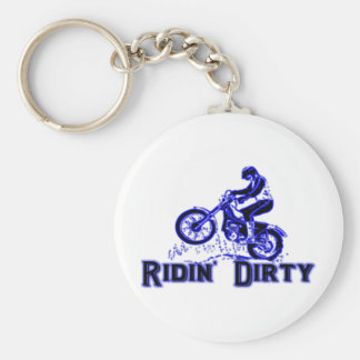 Ridin Dirty Basic Round Button Key Ring