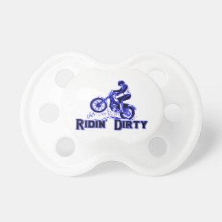 Ridin Dirty Dirt Bike Rider Pacifier