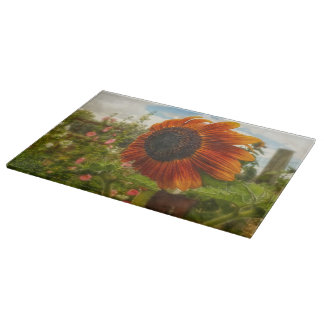 Ridin' That Wyoming Wind Cutting Board Sunflowers
