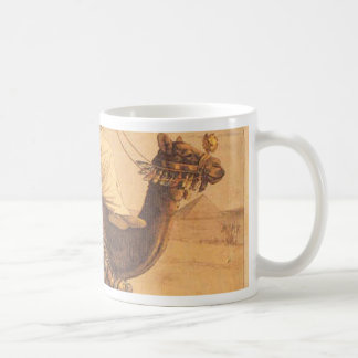 Riding a dromedary basic white mug