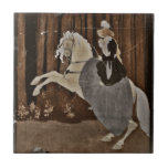 Riding a Horse in the Forest Ceramic Tile