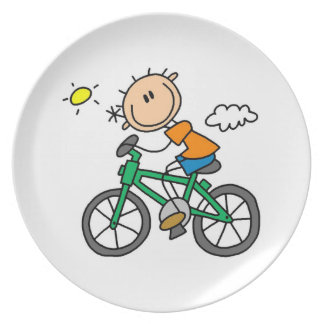 Riding Bicycle - Male Dinner Plate