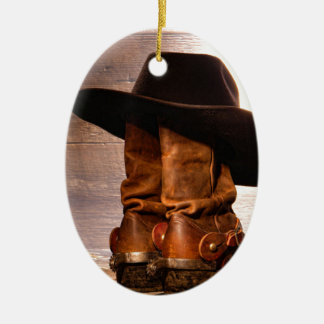 Riding Boots and Cowboy Hat Christmas Ornament