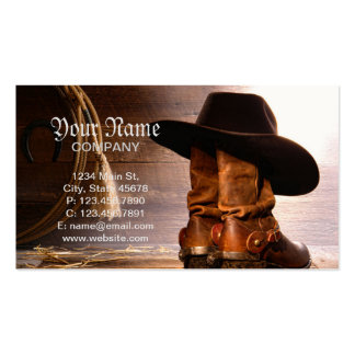 Riding Boots and Cowboy Hat Pack Of Standard Business Cards