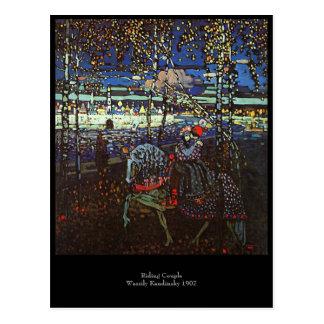 Riding Couple by Wassily Kandinsky 1907 Postcard