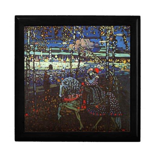 Riding Couple by Wassily Kandinsky Jewelry Box