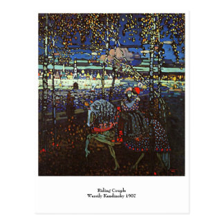 Riding Couple, Wassily Kandinsky 1907 Postcard