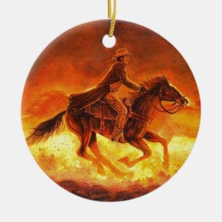 Riding Cowboy Christmas Ornament