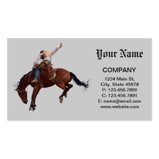 Riding Cowboy Pack Of Standard Business Cards