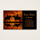 Riding Cowboys in Sunset Business Card