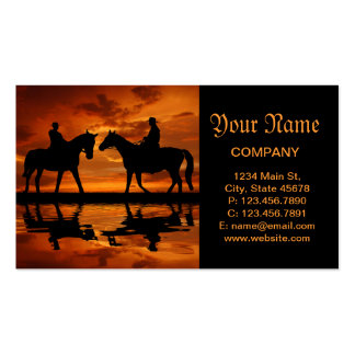 Riding Cowboys in Sunset Pack Of Standard Business Cards