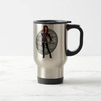 Riding Crop Mistress - Dungeon Wall Background Stainless Steel Travel Mug