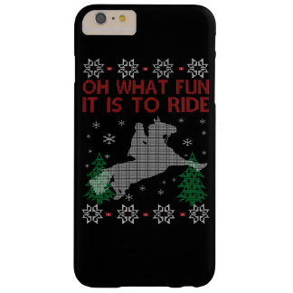 Riding Horse Christmas Barely There iPhone 6 Plus Case