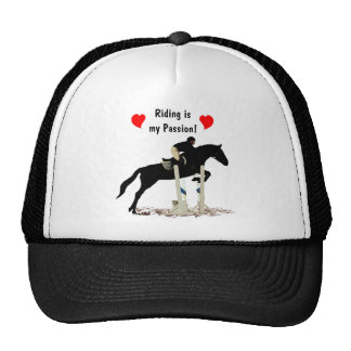 Riding is my Passion Equestrian Horse Trucker Hats
