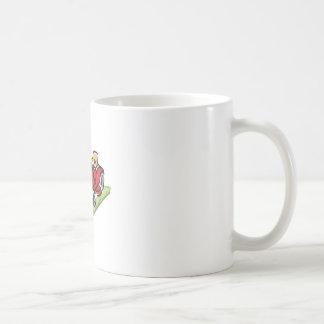 RIDING LAWNMOWER CLASSIC WHITE COFFEE MUG
