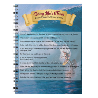 Riding Life's Waves - Support & Encouragement Notebook