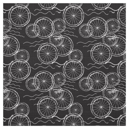Riding my Bicycle - black & white repeat
